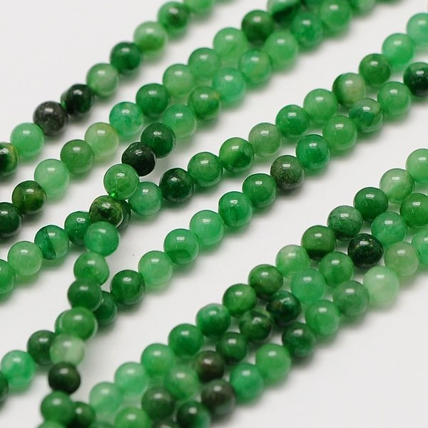 Natural Green Jade Gemstone Beads 2mm, strand 40cm, 174 pieces