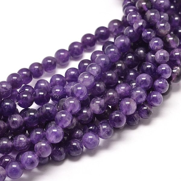 Natural Amethyst Gemstone Beads 8mm, strand 40cm 45pieces