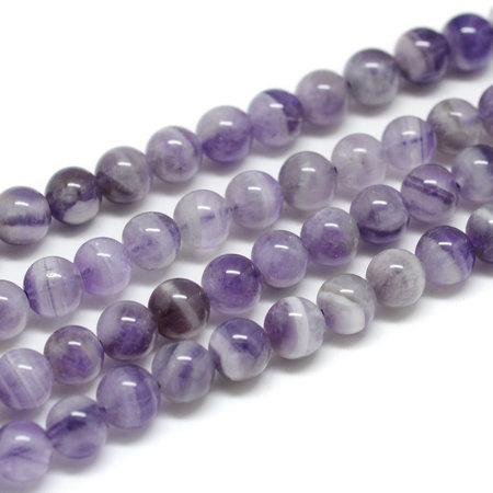 Natural Amethyst  Beads 12mm, strand 30 pieces