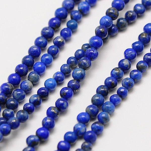 Natural Lapis Lazuli Grade AB Gemstone Beads 2mm, strand 40cm, 174 pieces