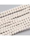 Natural Lavakralen Wit 4.5mm, streng 40cm, 80 stuks