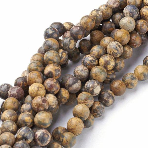 Natural  Leopard Skin Jaspis Edelsteen Kralen 2mm, streng 40cm, 174 stuks