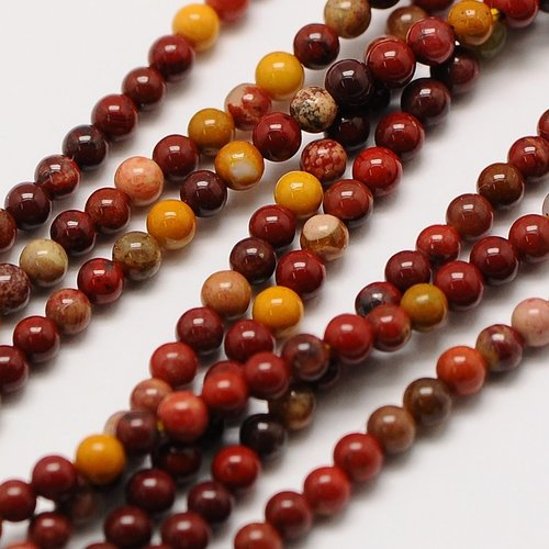 Natural  Mookaite Beads 2mm, strand 174 pieces