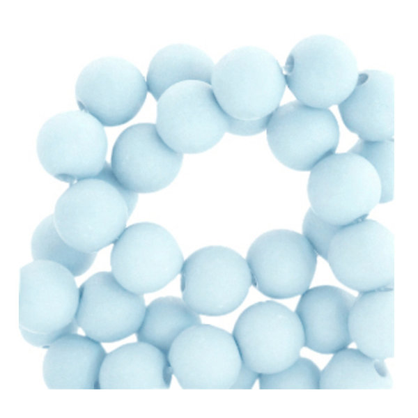 200 pieces Matte Baby Blue Acrylic Beads 4mm