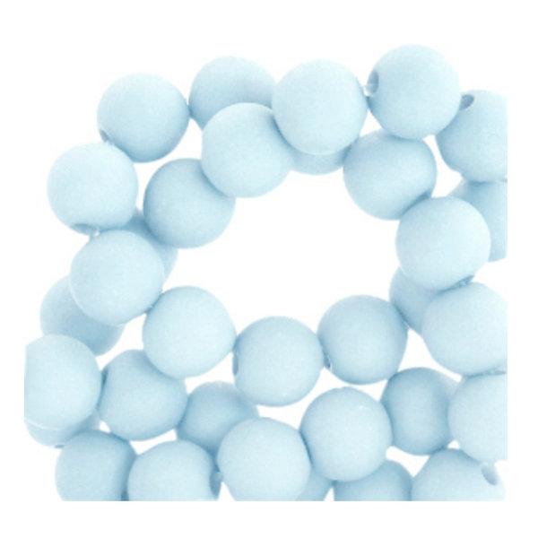 200 stuks Matte Acryl Kralen Baby Blauw 4mm