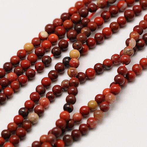 Natural  Red Jasper Mini Gemstone Beads 2mm, strand 174 pieces