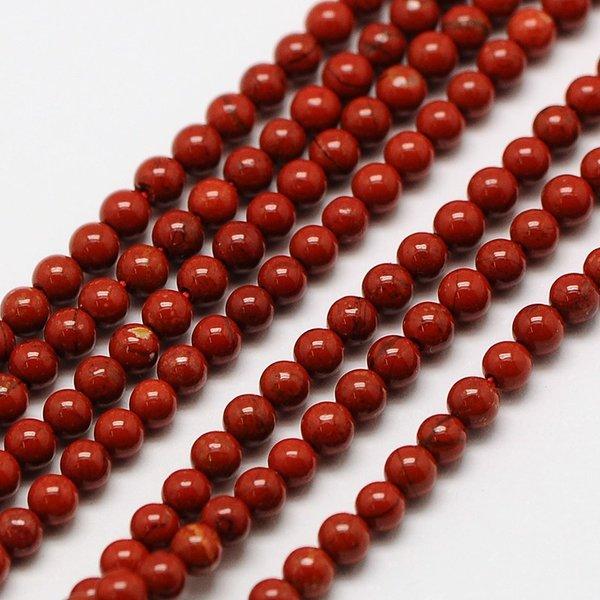 Natural  Rode Jaspis Edelsteen Kralen 2mm, streng 40cm, 174 stuks
