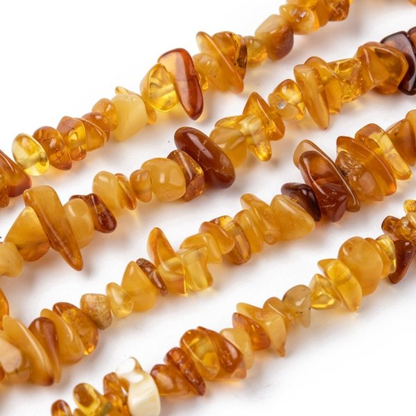 Natural Amber Chips 5~14x4~10mm strand 39cm circa 140 pieces