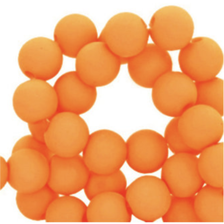 100 pieces Matte Orange Acrylic Beads 6mm
