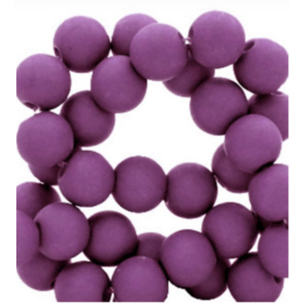 200 pieces Matte Purple Acrylic Beads 4mm
