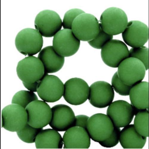 100 pieces Matte Grass Grass Green Acrylic Beads 6mm