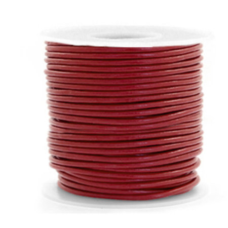 2 meter DQ Leather 1mm Red Brown