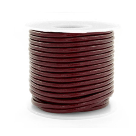 2 meter DQ Leather 2mm Brown
