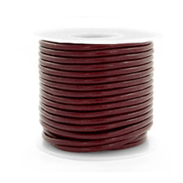 DQ Leather 2mm Brown, 2 meter