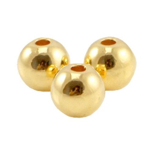 20 pieces Designer Quality Beads 6mm Nickel Free Golden
