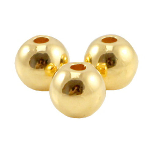 120 pieces Designer Quality Beads 3mm Nickel Free Golden