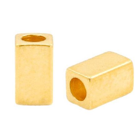 26 pieces Designer Quality Beads 5x3mm Nickel Free Golden
