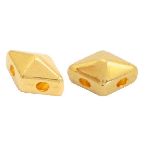 16 pieces Designer Quality Duo Beads 8x5mm Nickel Free Golden