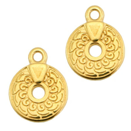 Designer Quality Bohemian Charm Golden 14x11mm