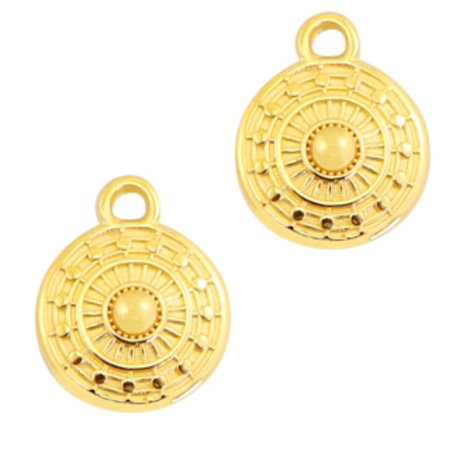 Designer Quality Bohemian Charm Golden 11x9mm