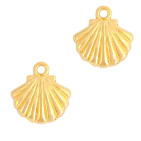 Designer Quality Charm Shell Golden 13x15mm Nickel Free