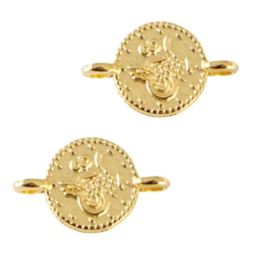 Designer Quality Link Coin Golden 12x7mm Nickel Free