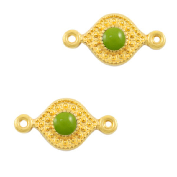 Designer Quality Link Green Gold 15x8mm Nickel Free