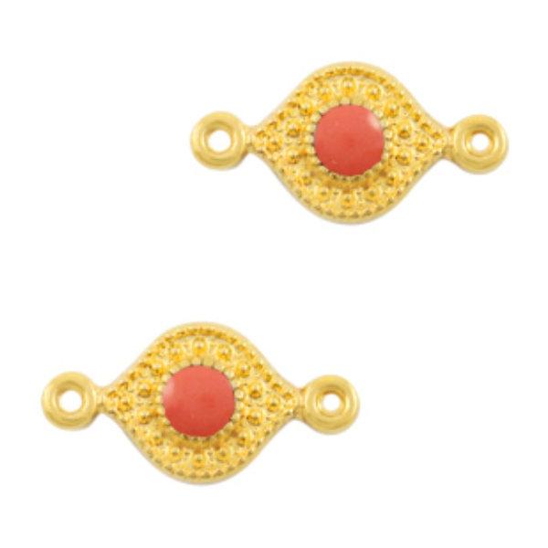 Designer Quality Link Coral Gold 15x8mm Nickel Free