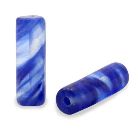 Natuursteen Kralen Blauw 13x4mm, streng 15 stuks
