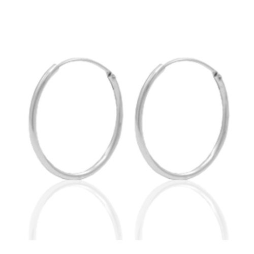 4 Pieces Earring Hoops 925 Sterling Silver 18mm