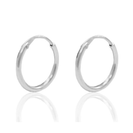 4 Pieces Earring Hoops 925 Sterling Silver 12mm