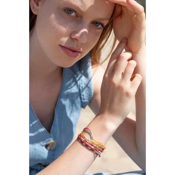 Bohemian Armband met Miyuki Delica's Maken