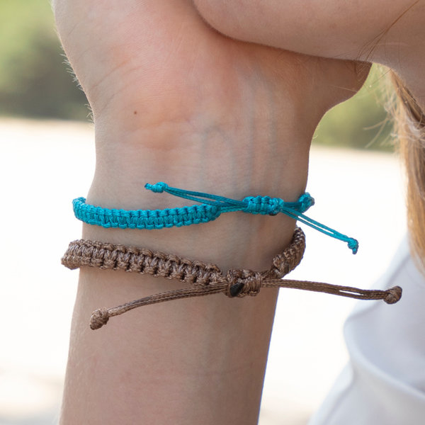 How To Make a Beadwork Bracelet with Waxed Cord