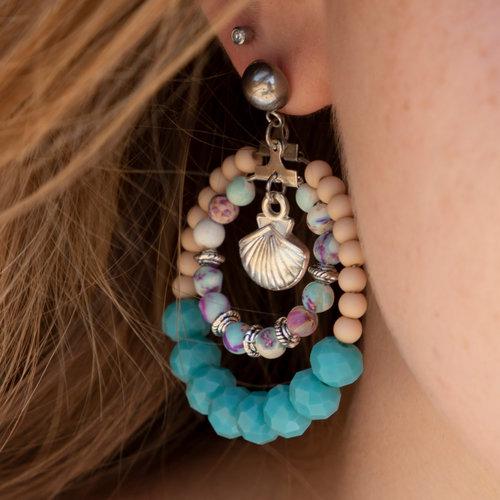 Making Bohemian, Beach Earrings with Naturel Stone Beads