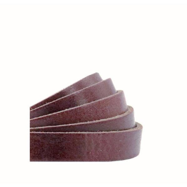 60cm Flat Leather Designer Quality 10mm Dark Brown