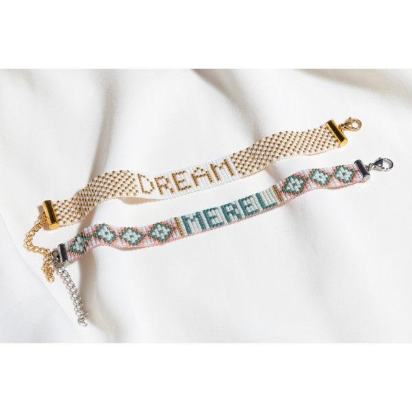 Miyuki Naam Armband Weven met Patroon Letters
