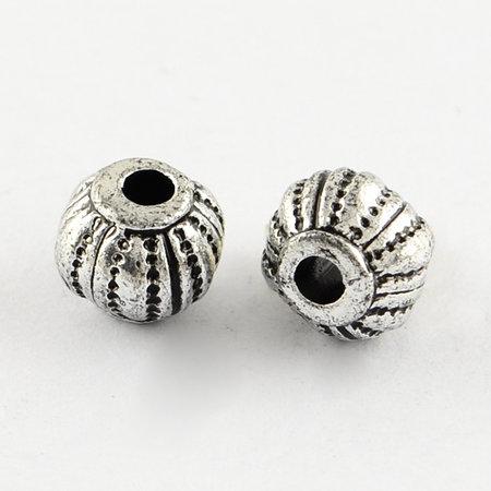 20 Pieces Vintage Acryl Beads Lantarn Antique Silver 8x6mm