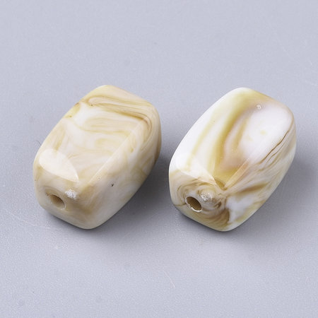 10 Pieces Gemstone Look Beads White Camel 13x7.5mm