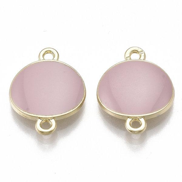 Round Link Gold Pink 17x13mm