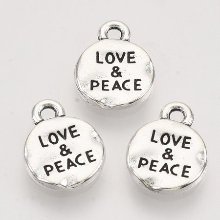 6 Pieces Charm  Silver 13.5x10.5mm Nickel Free