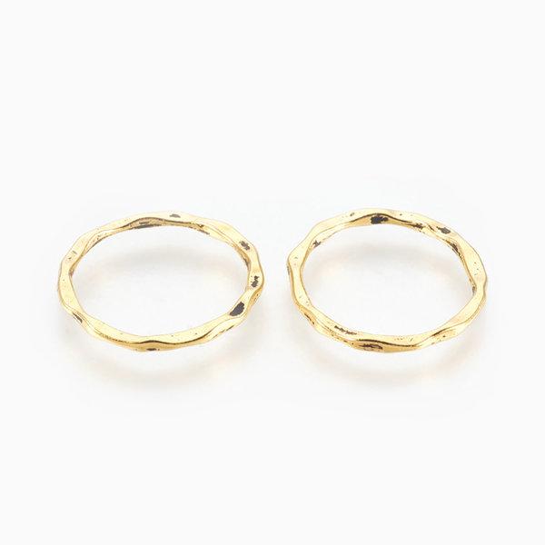 Tussenzetsel Ring Goud 22x1.5mm Nikkelvrij, 6 stuks