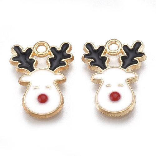Kerst Rudolf Hert Bedel  Goud 17x13mm