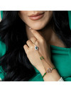 How to Make Hand Jewelry in Gold and Emerald Green Color