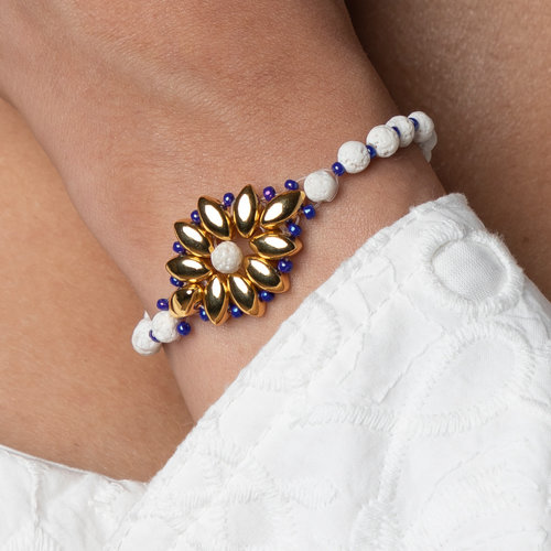 How to Make a Bracelet with Duo and  Lava Beads