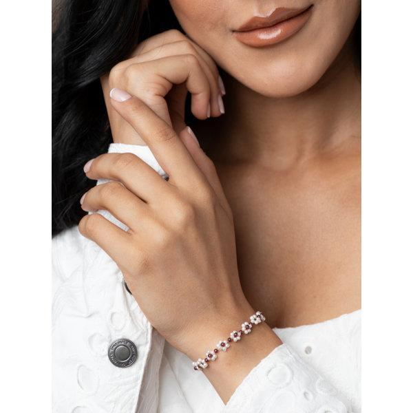 Bloem Armband Maken met Zoetwater Parels