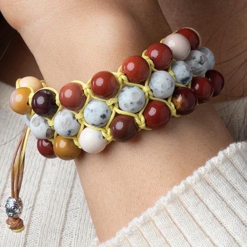 Make Shamballa Bracelet with Macramé
