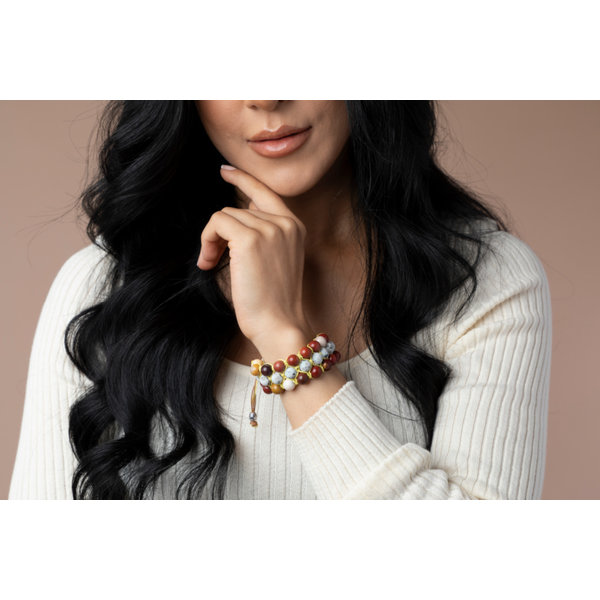 Make Shamballa Bracelet with Macramé and Natural Gemstones