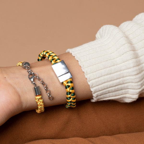 Armband Vlechten met Satijnkoord of Waxkoord