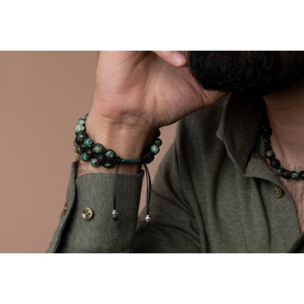 Heren Shamballa Armband Maken met Edelstenen en Macramé Knopen
