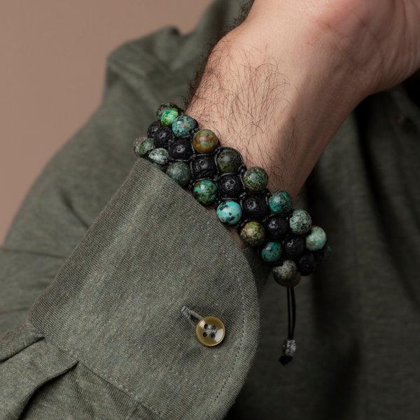 Make Shamballa Bracelet for Men with Macramé and Natural Gemstones